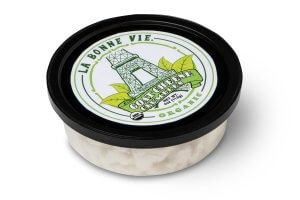 Picture of plain organic goat cheese crumbles