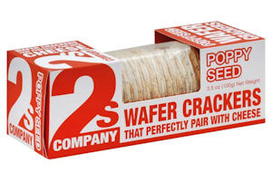 Picture of poppy seed wafer crackers