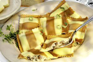 Picture of portabella & fontina ravioli