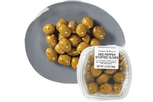 Picture of red pepper stuffed olives