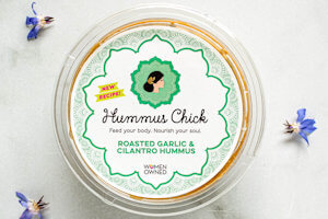 Picture of roasted garlic & cilantro hummus