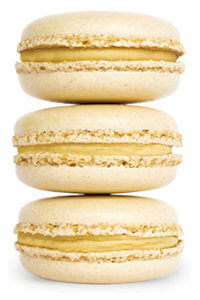 Picture of salted caramel macarons