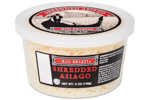 Picture of shredded asiago cheese