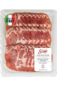 Picture of sliced coppa italiana