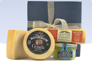 Picture of smoked cheese in gift box