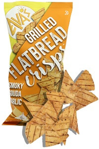 Picture of smoky gouda grilled flatbread crisps