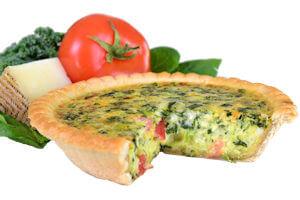 Picture of spinach and tomato quiche