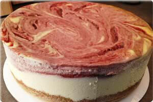 Picture of strawberry swirl cheesecake