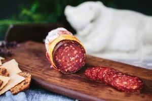 Picture of lamb and beef sujuk salami