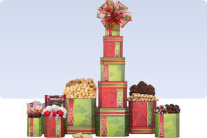 Picture of sweet holiday favorites tower