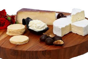 Picture of valentine's day cheese assortment